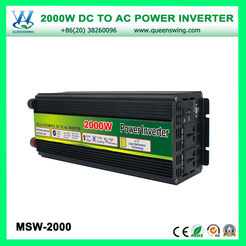 2000W Solar Power Converter with voltage display