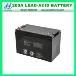 Maintain Free VRLA Rechargeable Battery 12V200ah Solar Battery