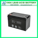 Maintain Free VRLA Solar Battery 12V100ah