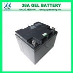 AGM/Gel 12V38ah Deep Cycle Solar Battery for Alarm&Firefighting System