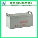 High quality maintenance free 12V200AH gel/lead acid battery